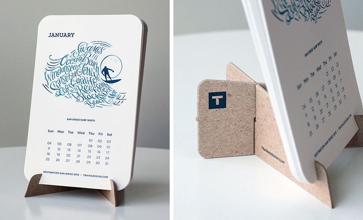 Traina Design • 2015 Calendar - January {San Diego surf spots} #calendar
