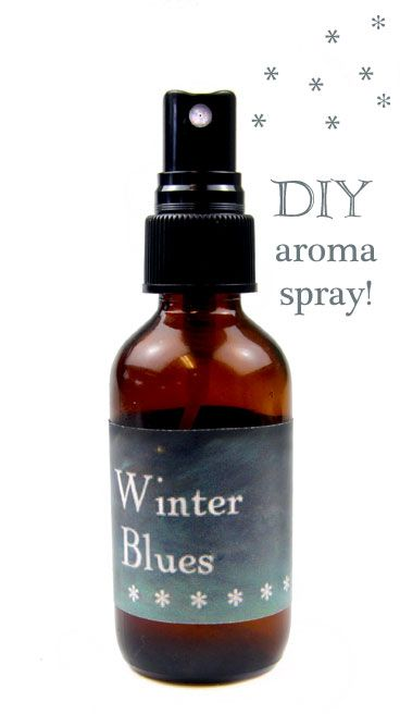 This easy spray is made with aromatherapeutic scents that uplift the spirit and deflect winter anxiety, grumpiness, and depression.