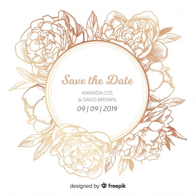 Download Wedding Invitation Cover Template With Beautiful Peony Flowers For Free Undangan
