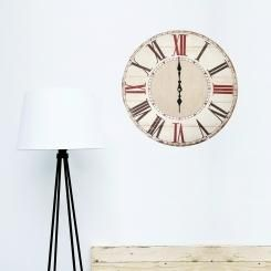 3D Wall Vintage Clock Shabby Chic - A decoration for your walls! Vintage wallsticker innspired by French style