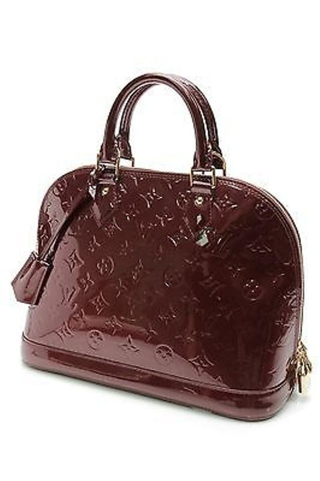 90988bc7009b LOUIS VUITTON Vernis Alma PM Monogram Rouge Fauviste Maroon Bowler Handbag  Purse  fashion  clothing  shoes  accessories  womensbagshandbags (ebay link)