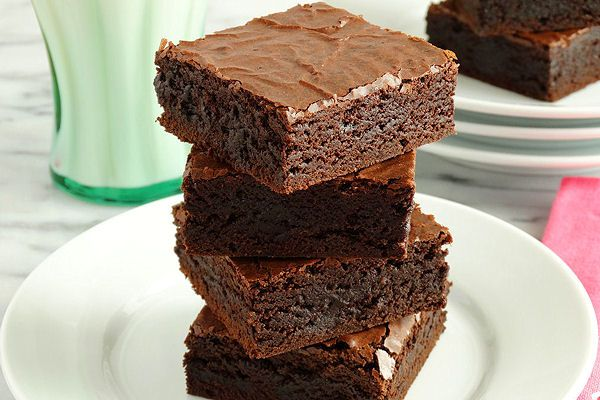 Grandma's Old-Fashioned Rich Fudge Brownies by WickedGoodKitchen.com ~ Fudgy, rich and chewy with an incredibly moist interior and a shiny, ...