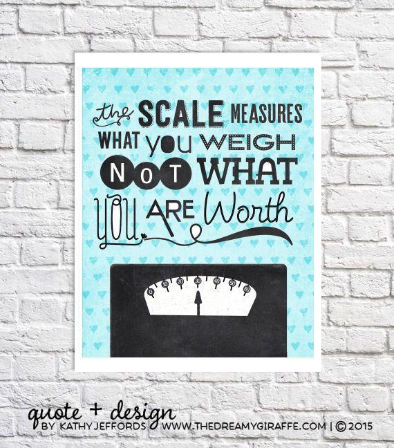Weight Loss Journey Self Esteem Quote Print Teenage Girl Bathroom Wall ...