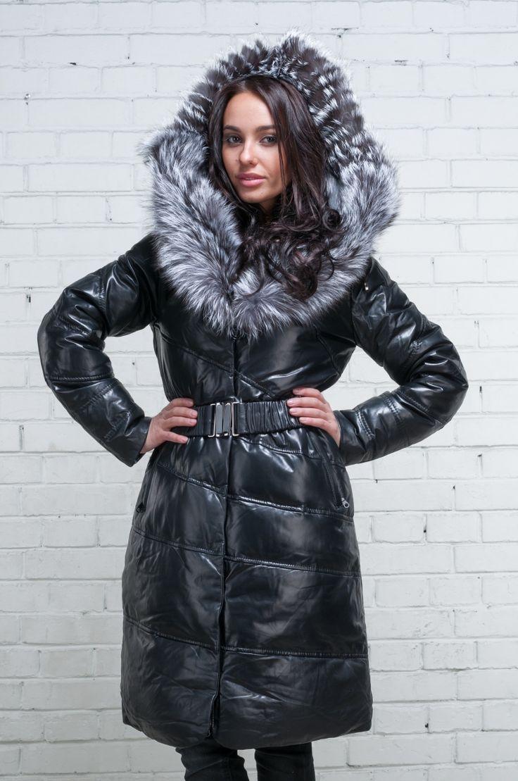 Пальто кожа+чернобурка № 200 (9816-3)