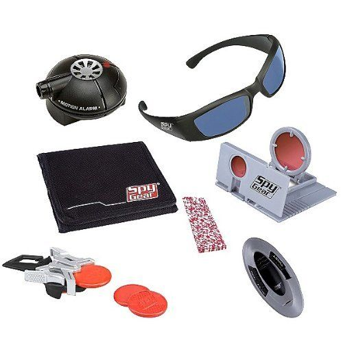 Spy Gear Ultimate Undercover Kit by Wild Planet. $28.88. Includes 3 Button Cell Batteries. Includes 7 handy Spy tools in all. Spy Motion Alarm Requires 2 AAA Batteries and Voice Scrambler. Includes 1 Pair of Spy Glasses, 1 Spy Motion Alarm, 1 Spy Wallet, 1 Spy Scope, 1 Pad of Spy Paper, 1 Pinch Shooter, and 1 Voice Scrambler.. Each tool is fully portable. Slip on your Spy shades, hide your micro Spy tools in your pockets, and you're ready for any undercover mission on...