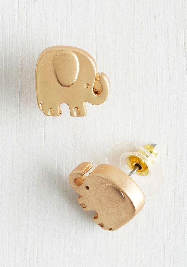 aretes en forma de elefante