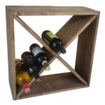 Stackable cube wine racks  This is the model often seen in restaurants, bars and in home decor magazine.  Comes in different sizes and finishes.