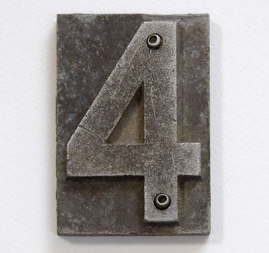 Victorian cast-metal vintage railway sleeper markers - Seriously impressive as house numbers! Limited stock.