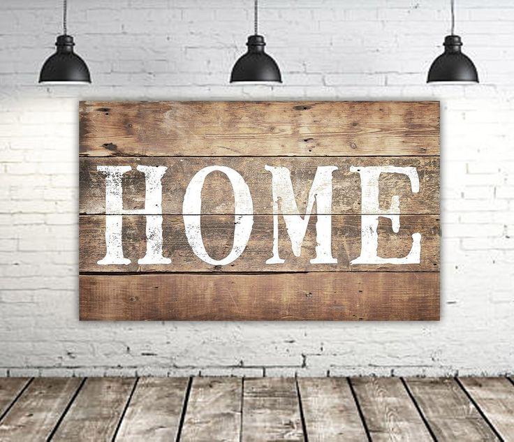 Large Rustic Home Sign - Farmhouse Wall Decor | Farmhouse ... on Home Wall Decor Signs id=24298