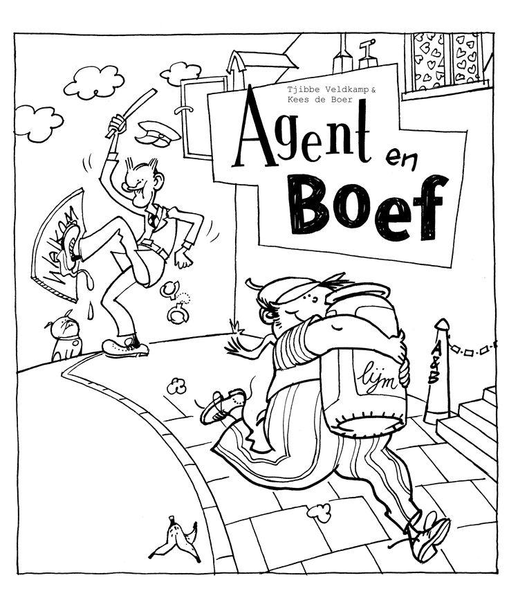 Agent en Boef coloring