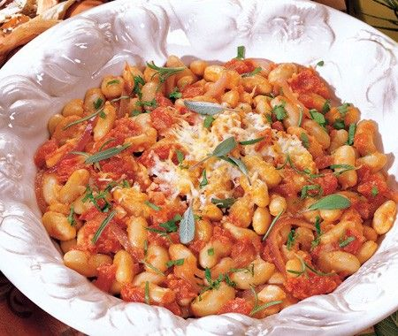 White Beans With Tomato Recipe | from 125 Best Italian Recipes cookbook |House & Home