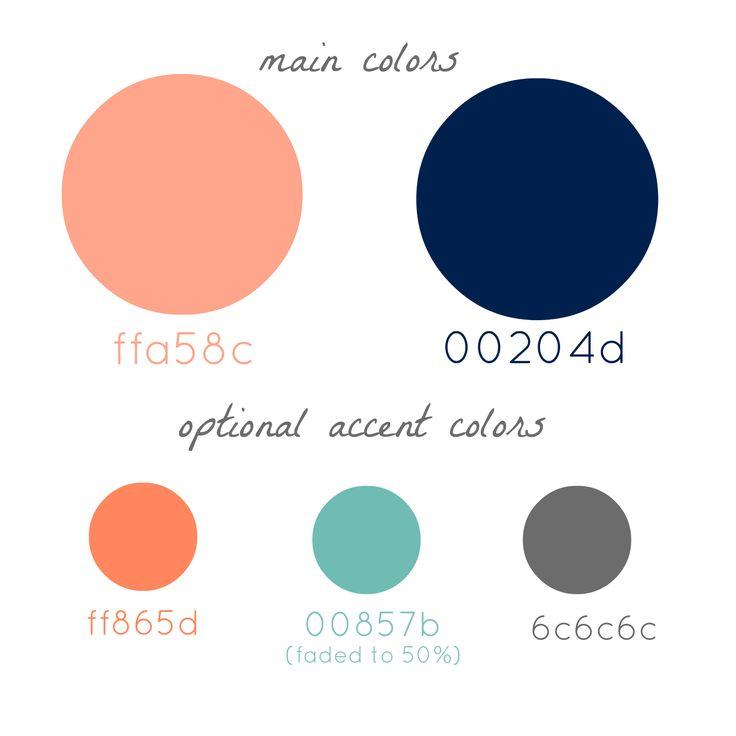 Color Palette Peach Navy Gray We Do Color Palettes
