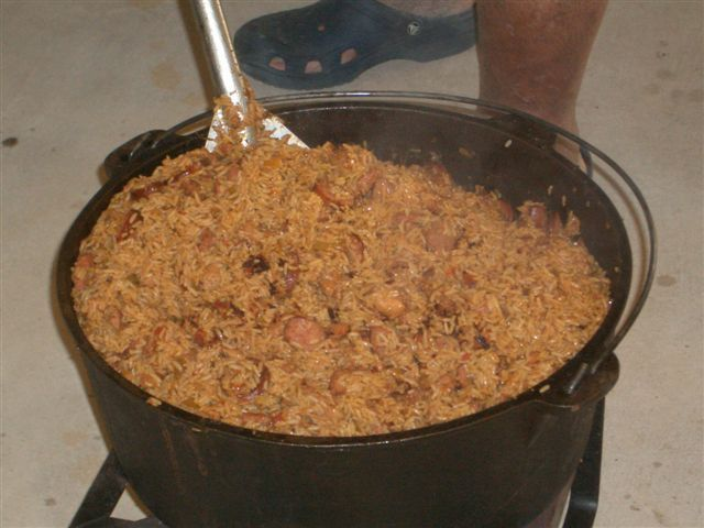 Jambalaya... if it wasn't cooked in a giant pot on a beautiful day, it ain't the cajun way!