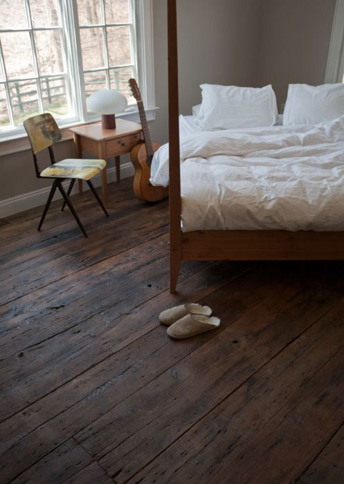 : Bathroom Design, Modern Bathroom, Hardwood Floors, White Beds, Rustic Woods, Woods Floors, Guest Rooms, Four Poster Beds, Old Woods