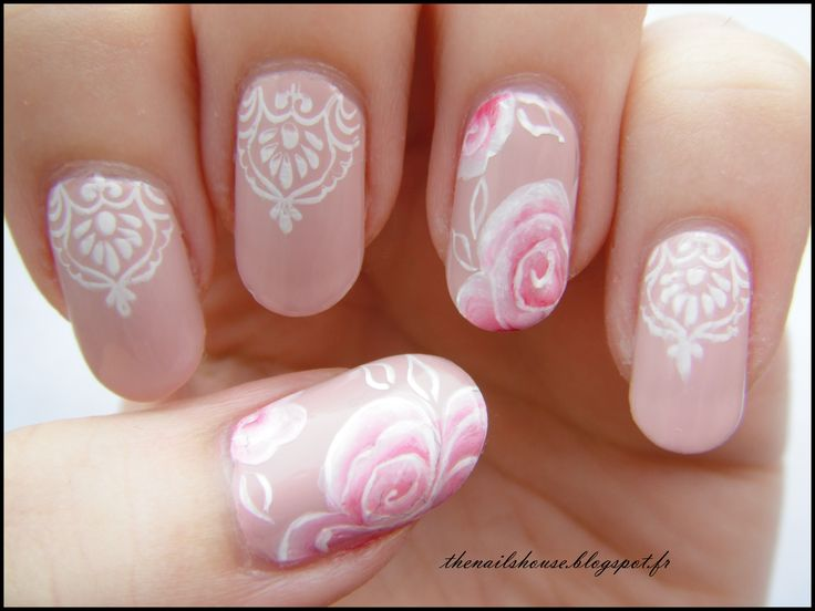 177 best our nail art images on pinterest nail art nail art one stroke nail art roses nude prinsesfo Images
