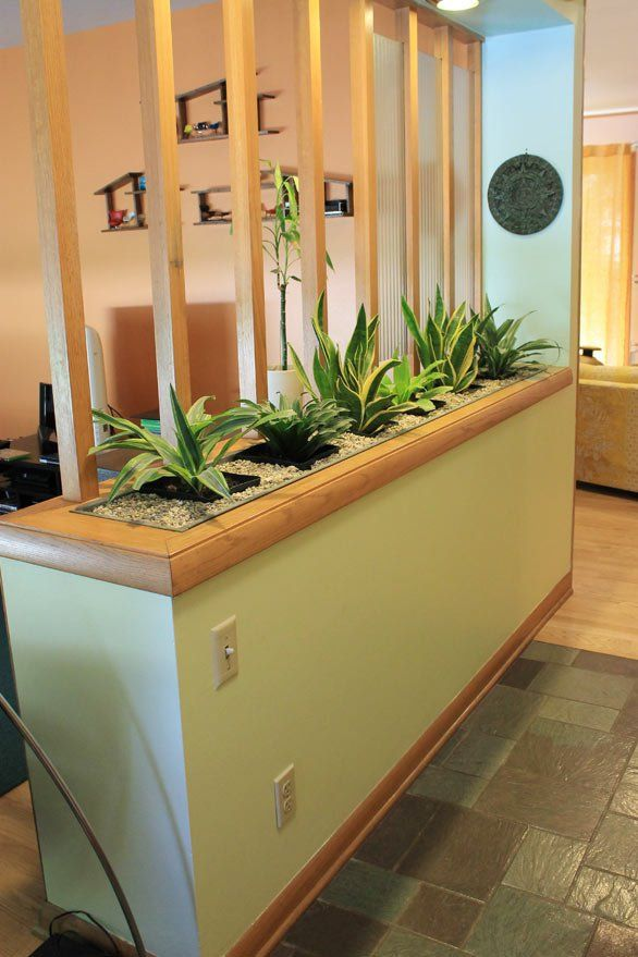 1960 planter divider - Nice tour of a ranch home from Retro Ranch Revamp - decor stays true to the style and era