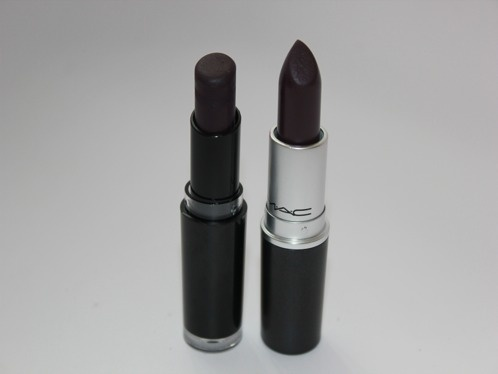 Wet n Wild Vamp It Up 919B - MAC Smoked Purple. I have the Wet n Wild shade, it looks a little scary but it's gorgeous in the fall time with a neutral looking eye :)