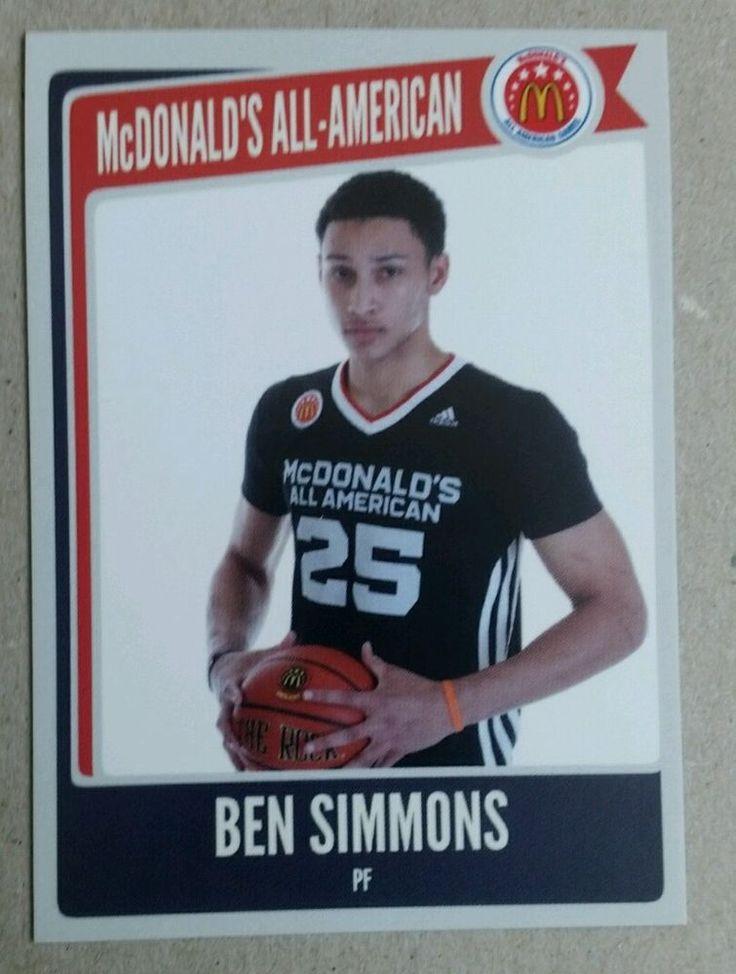 Ben Simmons Mcdonalds All American Custom Rookie Montverde Academy LSU Tigers rc