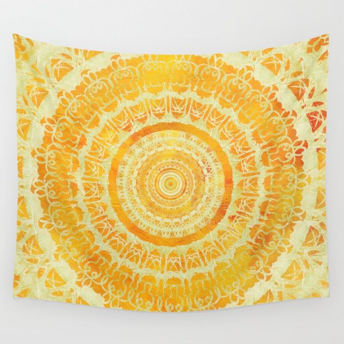 Bohemian Tapestries Yellow Tapestry Room Tapestry Tapestry