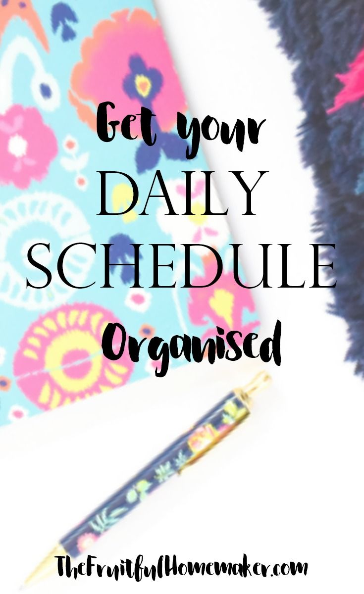 Organize your daily schedule with this free printable. Plan your morning, afternoon and evening routines and get stuff done. Boost your productivity without the overwhelm.