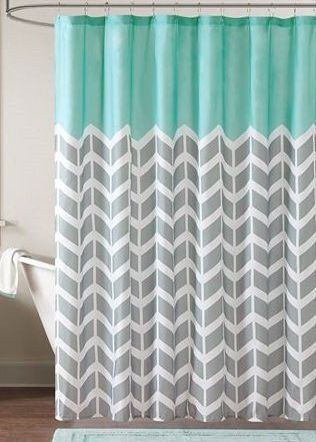 mint and grey shower curtain. Aqua Blue with Gray and White Chevron Shower Curtain Best 25  shower curtains ideas on Pinterest Yellow