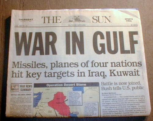 Image result for kuwait 1991 newspaper images