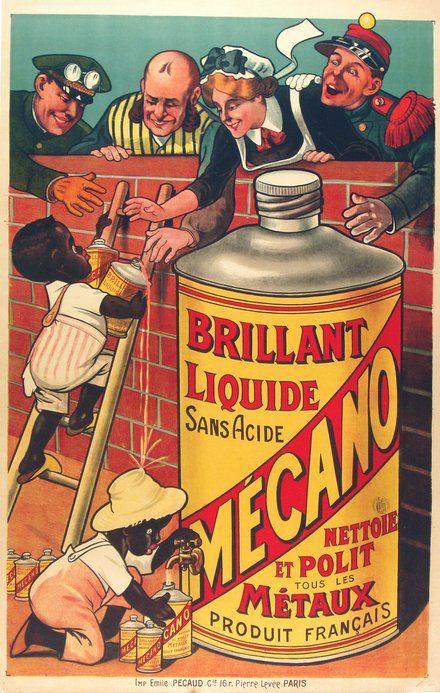 Brillant Liquide Sans Acide, Mecano - Vintage French Advertising Poster