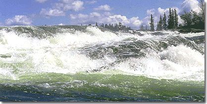 Churchill River in north central Saskatchewan.