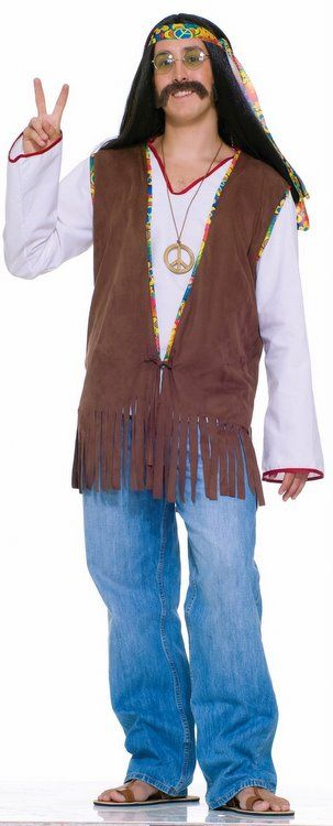 add our retro menu0027s hippie vest to our far out threads hippie costume or any of our menu0027s hippie halloween costumes for a great retro look