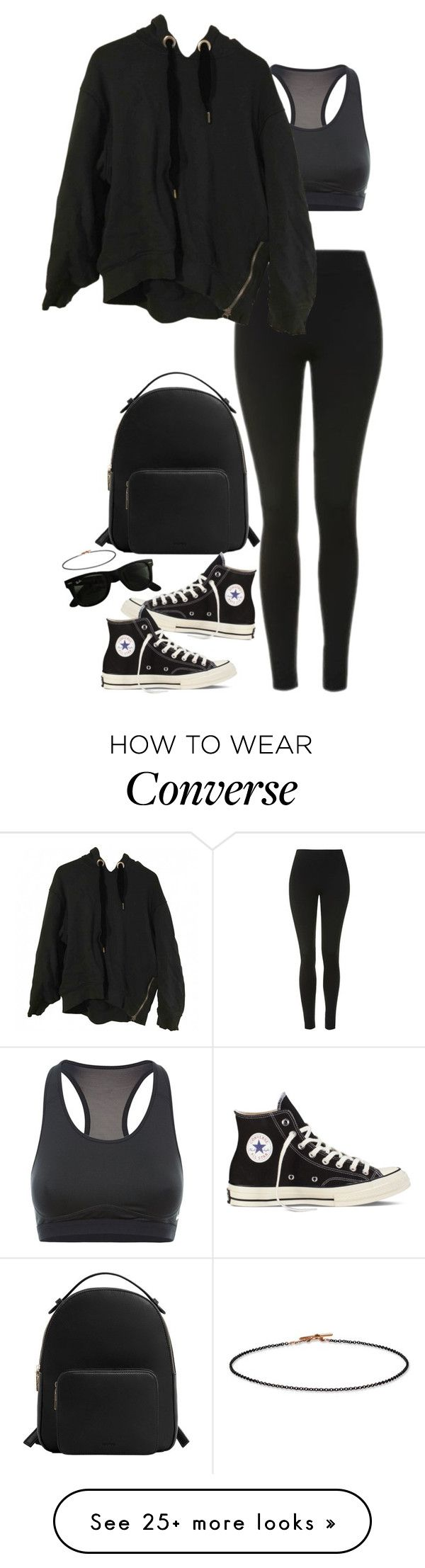 """""""Bez naslova #1193"""" by nely01 on Polyvore featuring Topshop, NIKE, MANGO, Acne Studios, Converse, Ray-Ban and Bijoux Coquette"""