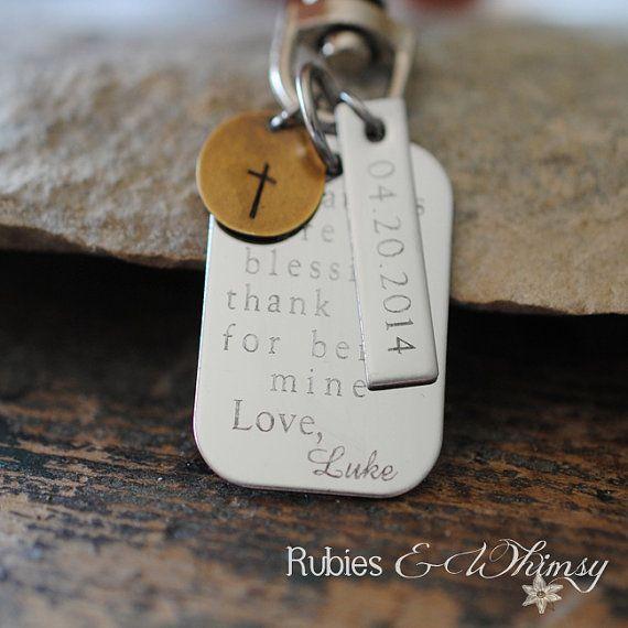 godfather godmother personalized keychain engraved gift for godparents christening gift. Black Bedroom Furniture Sets. Home Design Ideas