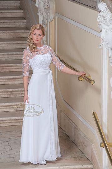 653- alkalmi fazonú esküvői ruha. Tengerpartra, második esküvőre, polgárira is ajánljuk.