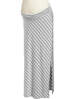 Maternity Striped-Jersey Maxi Skirts