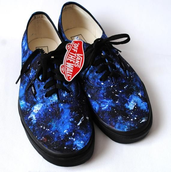 25e73513766b Custom handpainted galaxy VANS. Acrylic paint on canvas non-brand shoes ( Vans look
