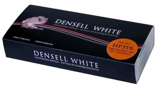 WHITE HP35% CONSULTORIO TWO PATIENTS KIT OFFICE 8 ARCADAS • Peroxido de hidrogeno • 2 Potes polvo 1 g + 2 Líquidos 5 ml + Dental Dam barrera gingival + Desensibilizante K+F + Accesorios - Cod 6539