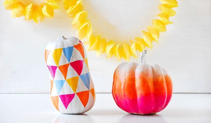 A DIY for Funky Pumpkins.