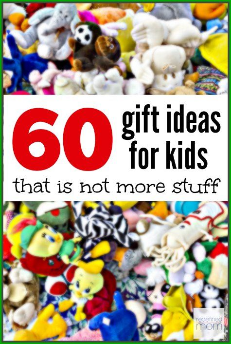Are you tired of more STUFF? Here are 60 gift ideas for kids that is not stuff, but experiences and memories. A great gift-giving list for the holidays.
