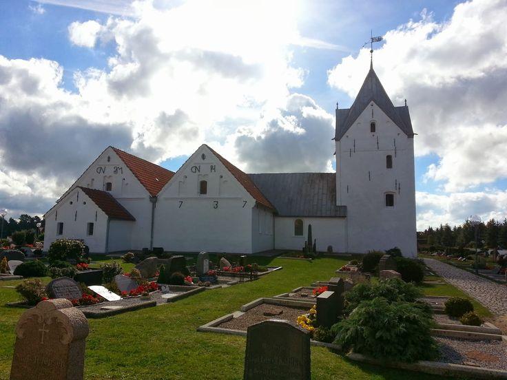 Saint Clemens Church on Lakolk Beach in Römö, Denmark