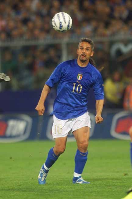Roberto Baggio, who played in three Fifa World Cups (1990 - 1994 - 1998) with Italy