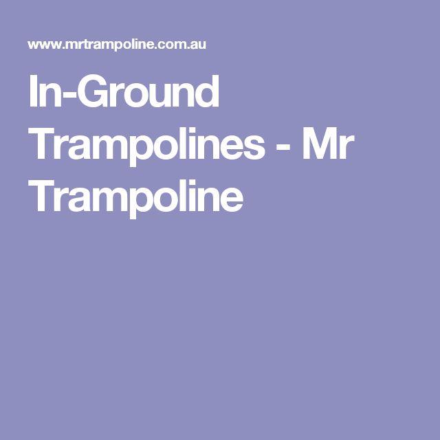 In-Ground Trampolines - Mr Trampoline