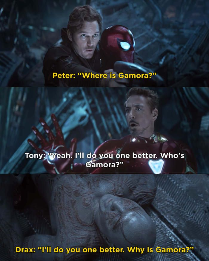 33 Marvel Moments That Prove How Funny The Mcu Really Is Avengers Funny Marvel Movies Gamora