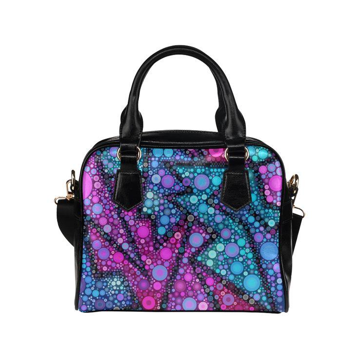 Blues Bubble Love Shoulder Handbag (Model 1634) | ID: D1391900