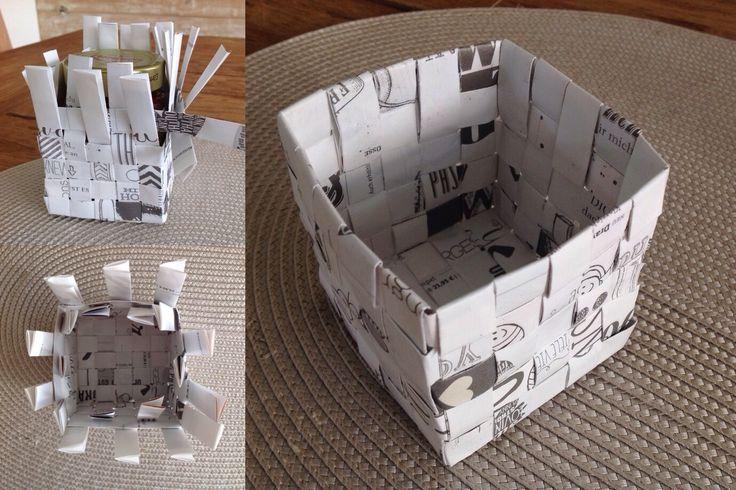 Paper Upcycling, Stampin'Up Katalog verarbeiten, Schachtel Flechten, Schachtel weben, Papier Box, Papier Recycling,