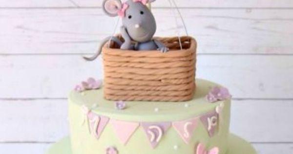 Little Mouse In A Hot Air Balloon Cake By Noemi - https://www.facebook.com/Sugardreams.Modiin - (cakesdecor)   Brilliant Cakes...Xoxo   Pinterest   Balloon Cak…