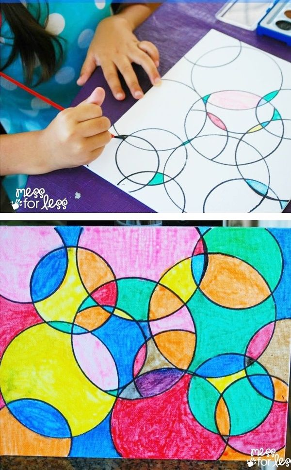 30 Easy And Creative Painting Ideas For Kids Circle Art Art