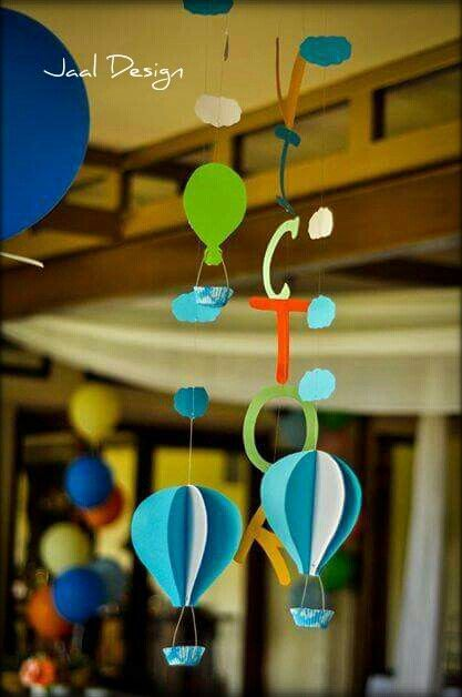 Party decor - hot air baloons