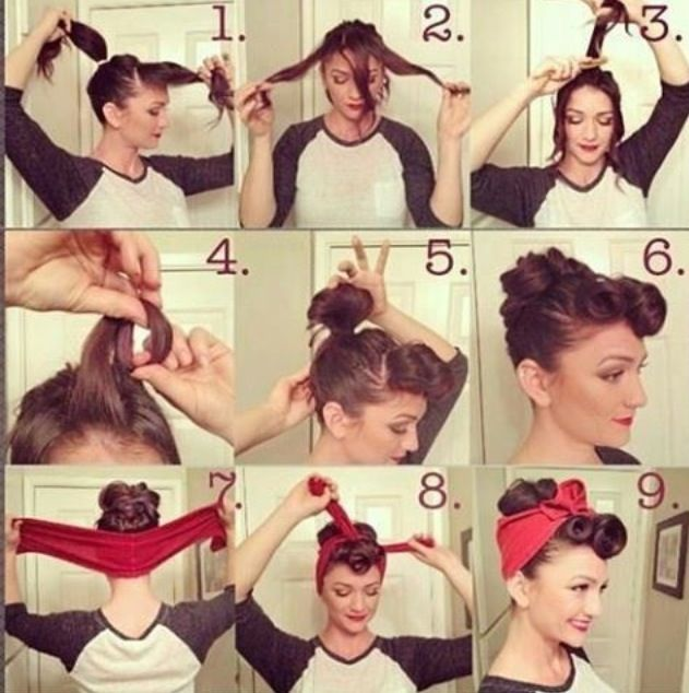 Just in case I ever grow out my hair... How to: pin-up hairstyle