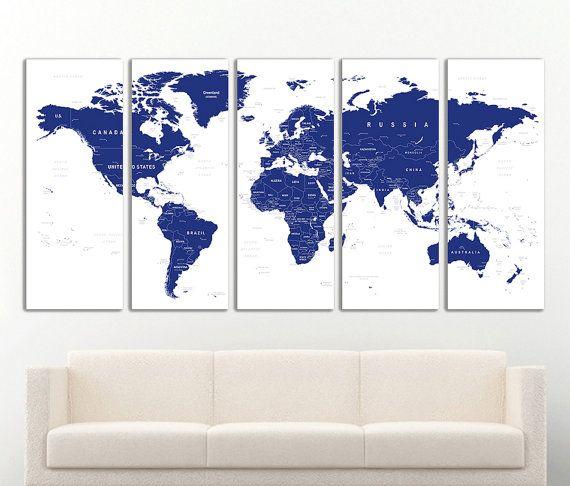Wereld kaart Canvas Print Wall Art Push Pin wereld kaart Wall Decor wereldkaart afdrukken wereld kaart kunst reizen kaart Canvas Art Canvas Decor. Klaar om op te hangen!  Verfraaien uw muren door indrukwekkende fotos op doek, laat onze illustratie zal comfort toe te voegen aan uw huis of kantoor. Wij printen op natuurlijke katoen canvas, stretch op een houten frame 1,6(4cm) met galerie wrap, verpakt in een strakke doos. Dit doek is klaar om op te hangen met hangende hardware.  Kies uw maat…