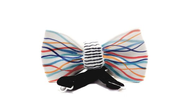 eco-friendly ceramic bow tie - Mr. Potter Wave - 100% made in Italy