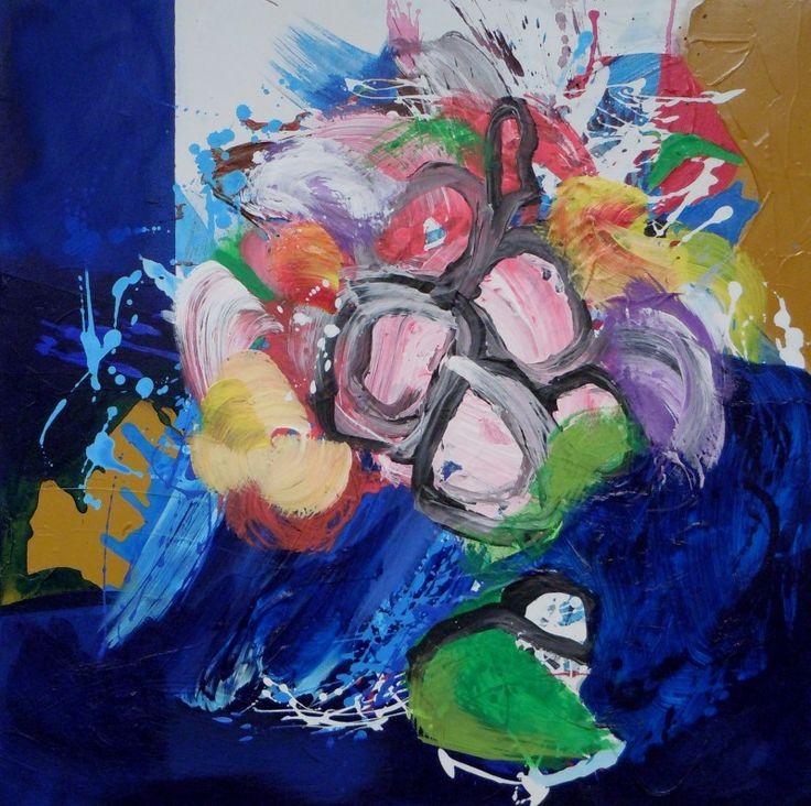 Floralies - acrylique sur toile (70x70cm) 2014
